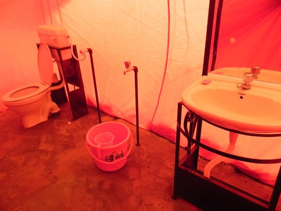 C& Shambhala bathroom inside tent & tent from inside - Picture of Camp Shambhala Spangmik - TripAdvisor