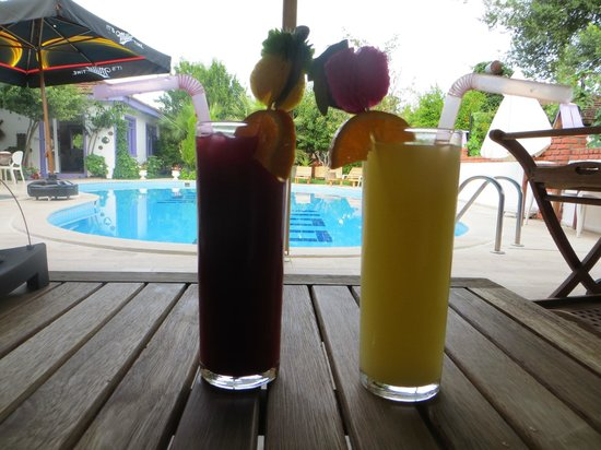 Dalyan Doga Hotel: Cocktails by the pool