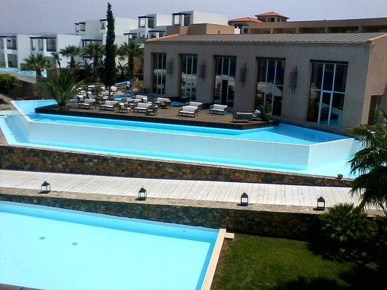Sensimar Elounda Village Resort & Spa by Aquila: Aquila Elounda Village Außenbereich Lobbybar