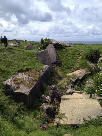 Battle of Normandy Tours: Destroyed German ammo bunker on Pointe Du Hoc