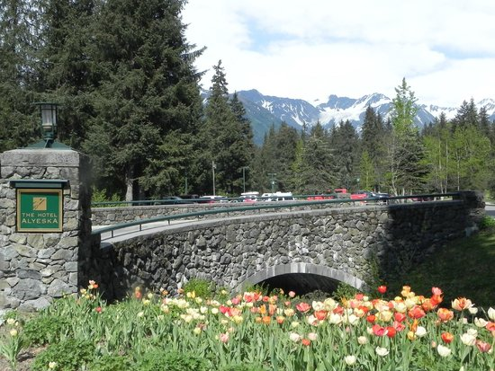 Hotel Alyeska: The entrance is a great first impression