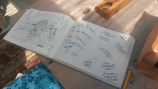 Bloomsburys : Our message in the guest book