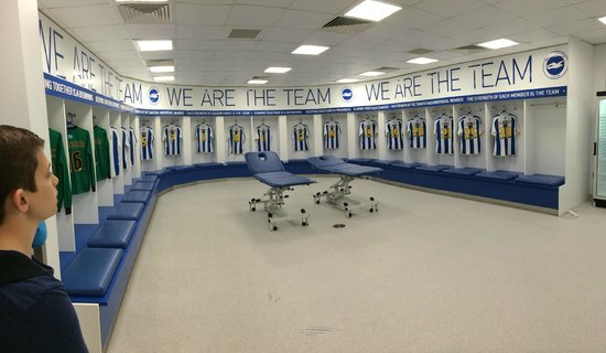 American Express Community Stadium: Dressing room on tour