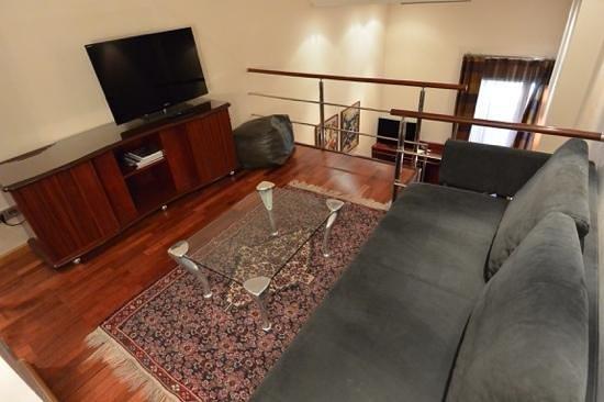 Hotel Claris: Upper level of duplex room at Pau Claris, Barcelona, Spain.