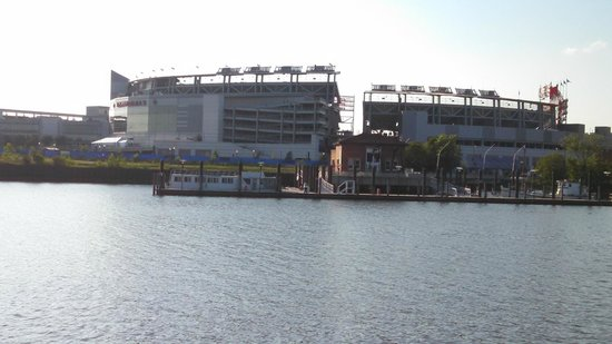 Nationals Park: View of the Stadium and dock from the boat