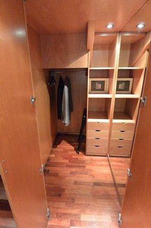 Hotel Claris: Closet in duplex room at Pau Claris, Barcelona, Spain.