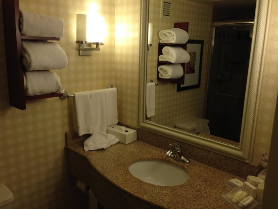 Hilton Garden Inn Lancaster: the bathroom