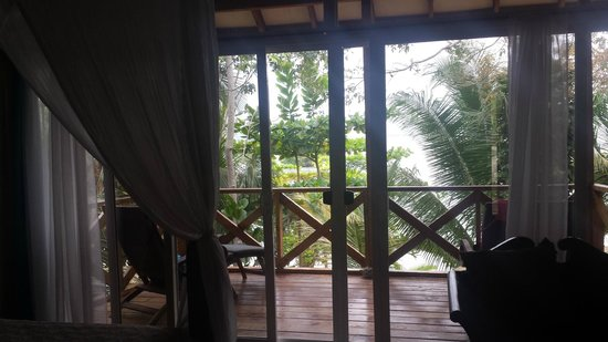 Popa Paradise Beach Resort: Balcony in our casita