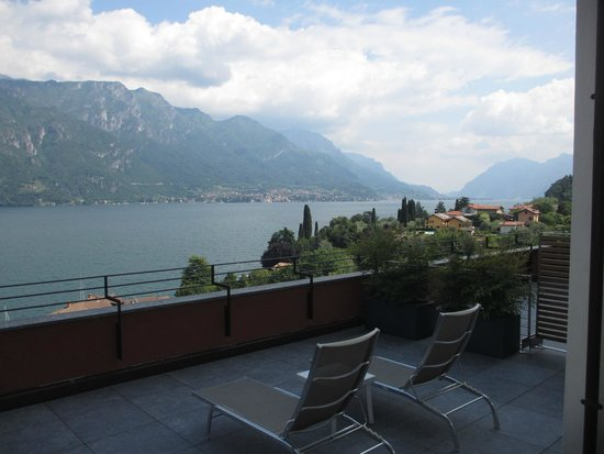Hotel Belvedere Bellagio: The view from the terrace of room 110.