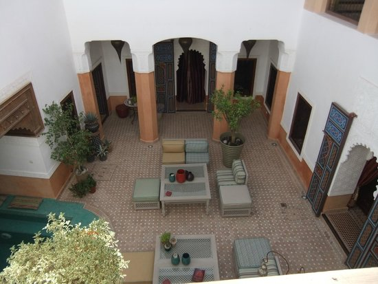 Riad Al-Bushra: View of the Courtyard from our room