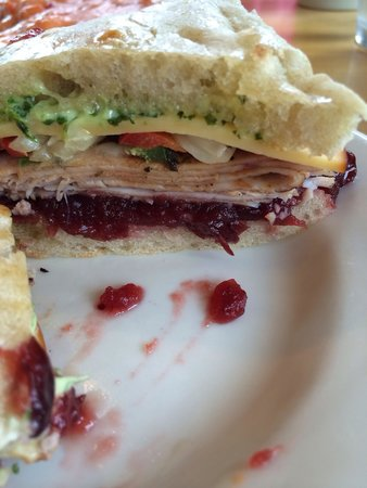 Rising Creek Bakery: Turkey cranberry sandwich! Best sandwich out there!!