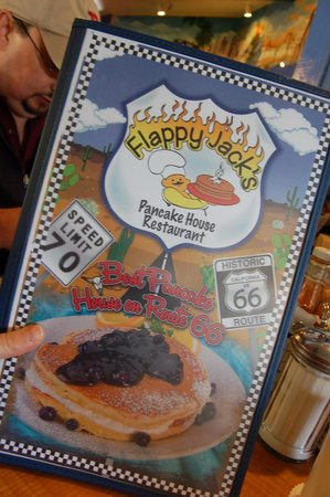 Flappy Jack's Pancake House: The restaurant decorations are retro Route 66