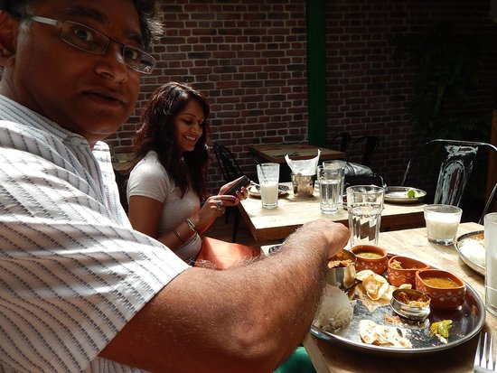 Curry Leaf Cafe – Brighton Lanes: Fish and chips indian style and meat thali