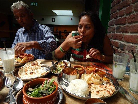 Curry Leaf Cafe – Brighton Lanes: Thali and birthday girl