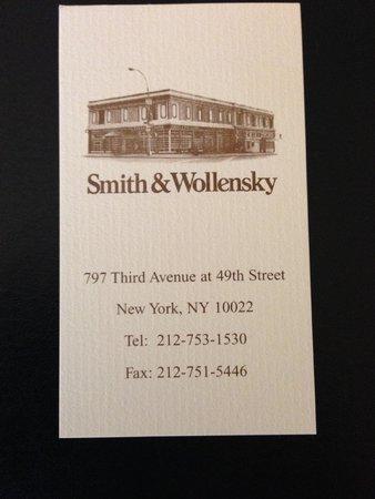 Smith & Wollensky - New York City: Restaurant Address