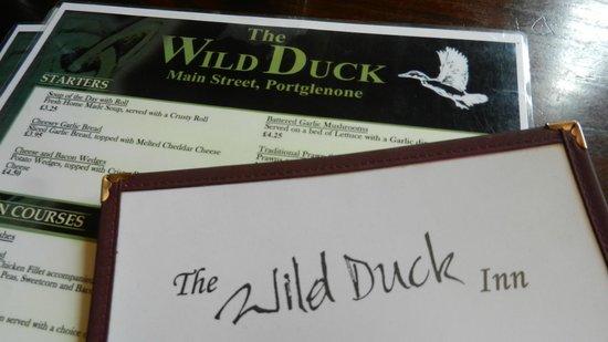 Wild Duck Inn: Menu