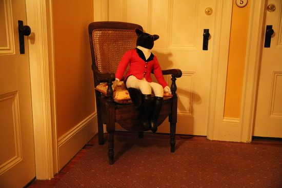Hamanassett Bed & Breakfast: This Handsome Fellow conceals antique potty chair!