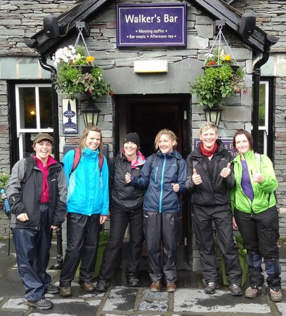 New Dungeon Ghyll Hotel : After hiking Scafell Pike