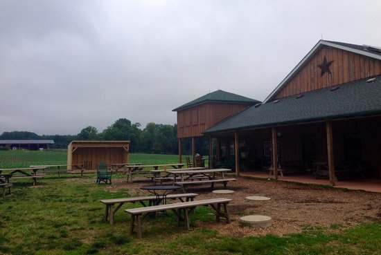 Broom's Bloom Dairy : Wooden structure right by farm
