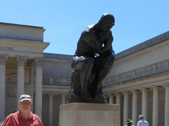 "Legion of Honor: Rodin's ""The Thinker"" in the Museum Courtyard."