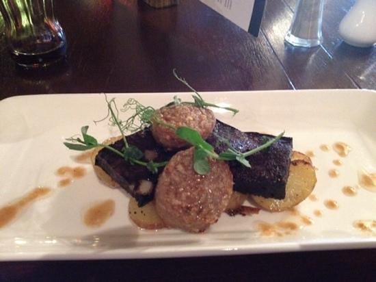 Best Western Derwent Manor Hotel: black and white pidding starter.. amazing!!!