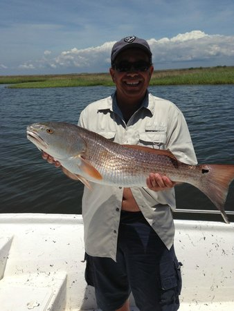 Shore Thing Fishing Charters: Red Fish with Capt. Matt