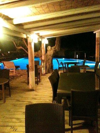 Hotel Les Arnelles : Piscine à débordement, en pleine nature