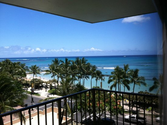 Aston Waikiki Circle Hotel: our view from a partial ocean view room