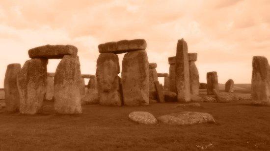 sepia tone Stonehenge