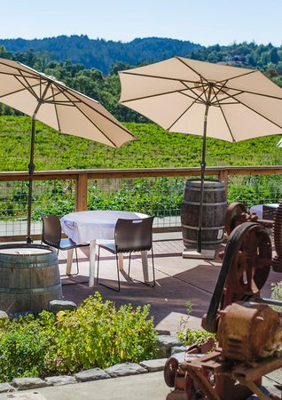 Forestville, CA: Enjoy a private tasting or glass of wine and cheese plate on our Sunset Patio