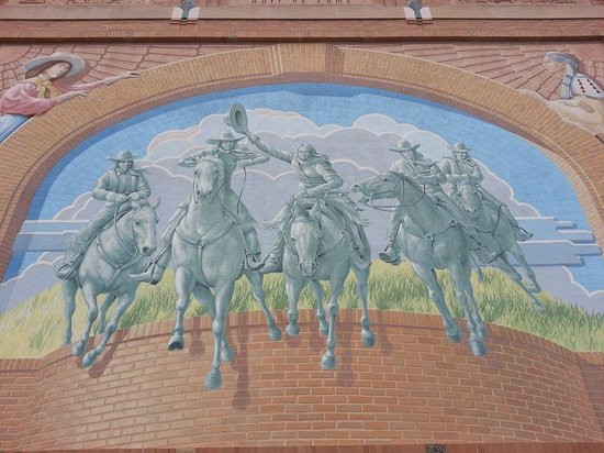 Outside wall mural beautifull done Picture of National Cowgirl