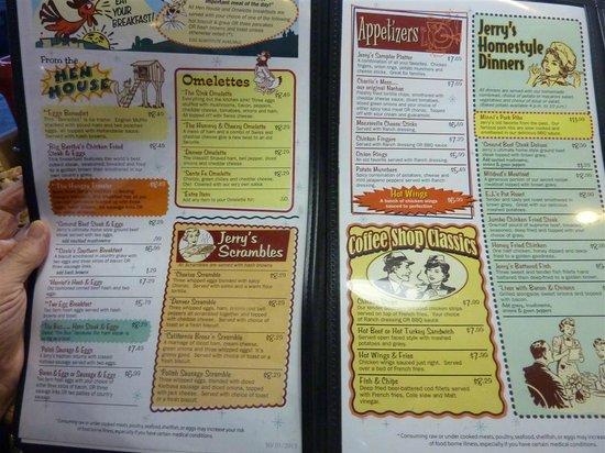 Jerry's Restaurant : Menu