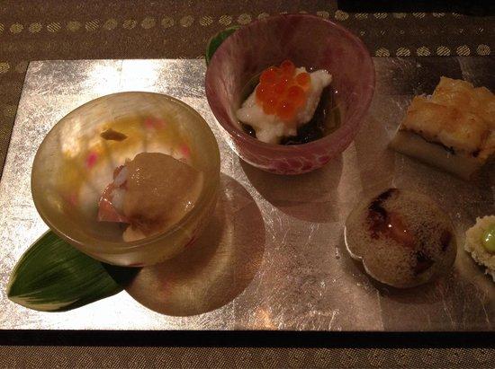 Japanese Cuisine Shimonoseki Shunpanro Tokyo: 丁寧な前菜達
