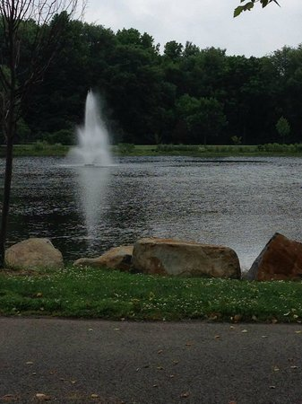Laurel Acres Park: Fountain in the lake
