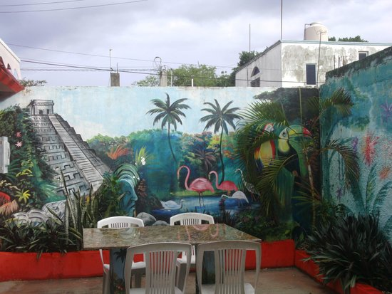 Plongee Grand Cozumel Diving: la cour