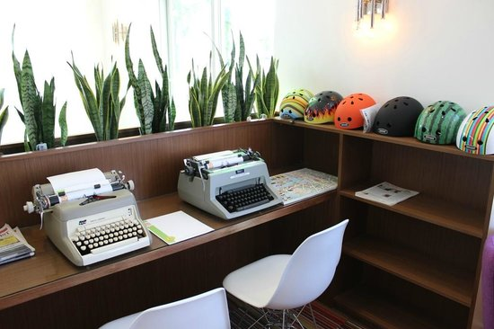 Hotel Zed: We wrote letters the old-fashioned way on their typewriters
