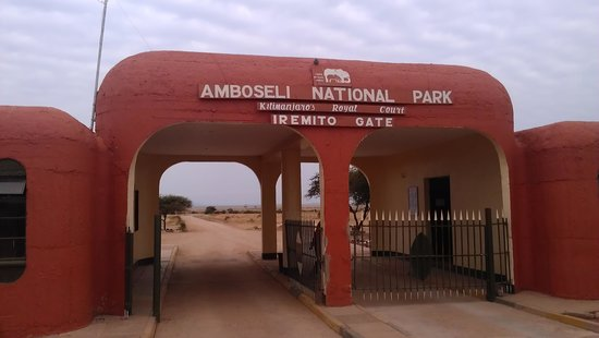 Amboseli National Park : Entrance gate