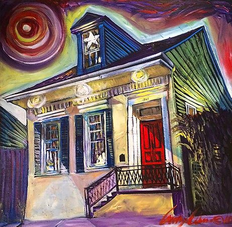 Painting of R&B Bed and Breakfast (formerly Noni's on NOLA) by Amsel Adams
