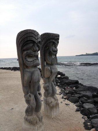 Pu'uhonua O Honaunau National Historical Park : Tikis