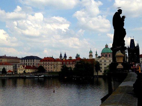 The view from Charles Bridge, Prague