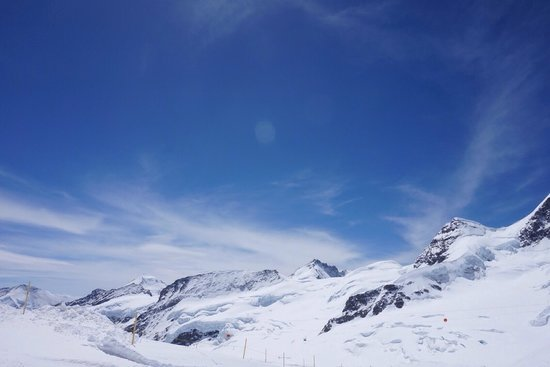 Snowboarding on Jungfrau in summer.