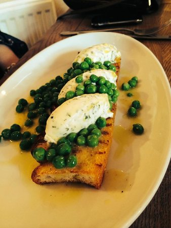 Sticky Walnut : just yum oven baked bread , cheese and peas ...serious taste