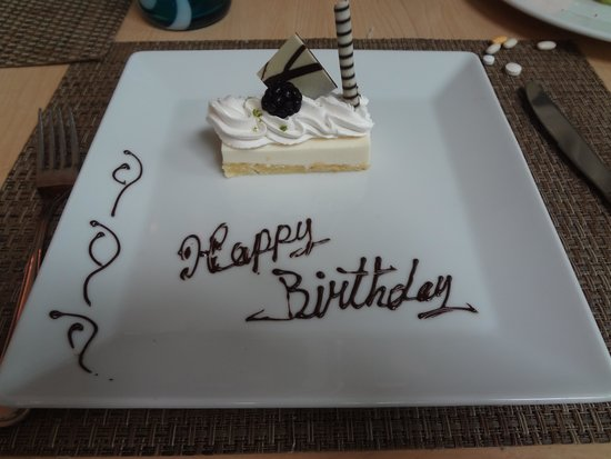 Live Aqua Beach Resort Cancun: Breakfast Birthday Cake