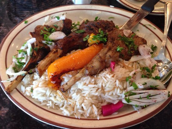 Malek Al Kabob: That's a perfectly seasoned and cooked lamb chop (1/2 order). Rivals even the best Brasilian chu