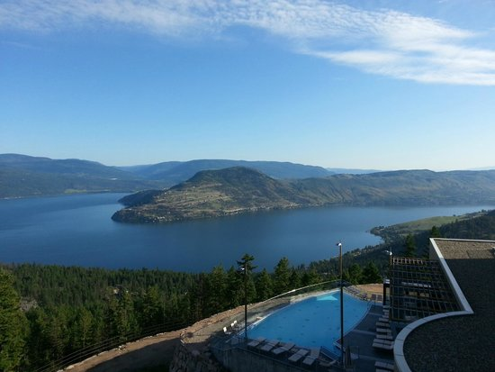 Sparkling Hill Resort: West side view, northwest of Okanagan Lake