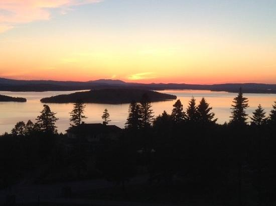 Moosehead Lake: sunset from porch of Blair Hill Inn