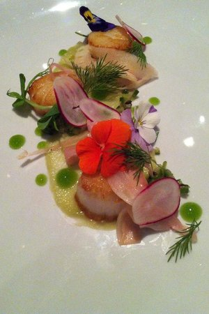 The Salthouse Eaterie: The scallop starter