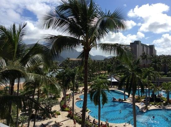 Kaua'i Marriott Resort: view from our partial ocean room