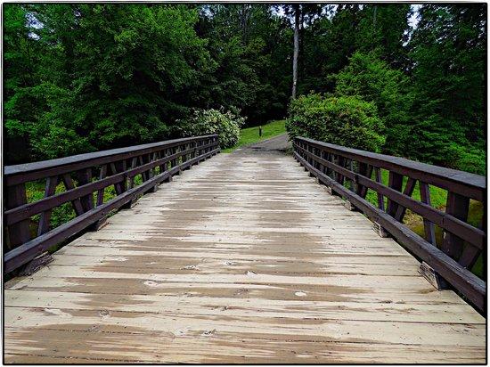 Buttermilk Falls Inn & Spa: Bridge from Inn to the farm area