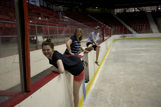 "Lake Placid Olympic Museum : 'Line Change"" at Lake Placid (at least in our heads-ice was off)"